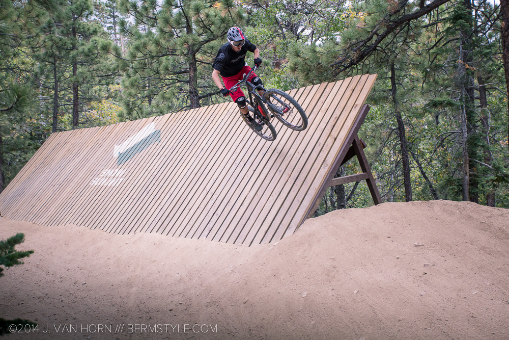 This wallride was pretty fun, but the jump following it was easy to overshoot.