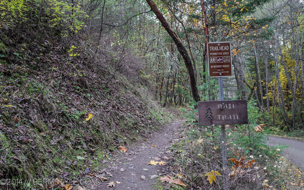 Rail trail entrance or exit from Reservoir road
