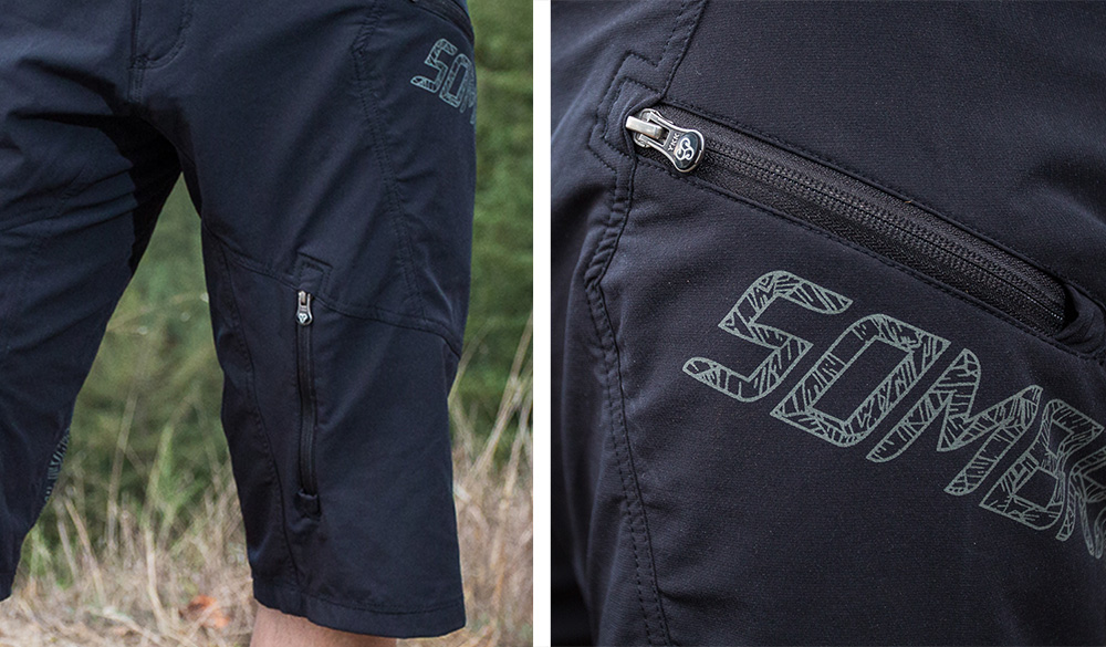 Front vent and front pocket detail