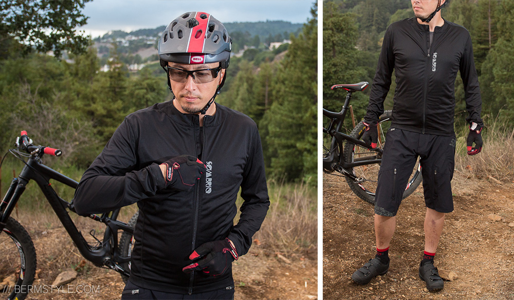 Sombrio Black Metal Jersey paired with the Pinner shorts, Giro Terraduro shoes, Bell Super Helmet, Gripgrab Gloves and Ryders Caliber Glasses.