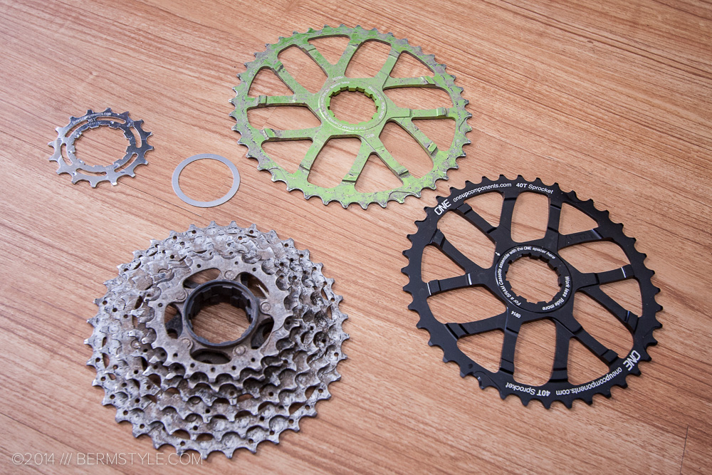 oneup components 42t and 40t cogs