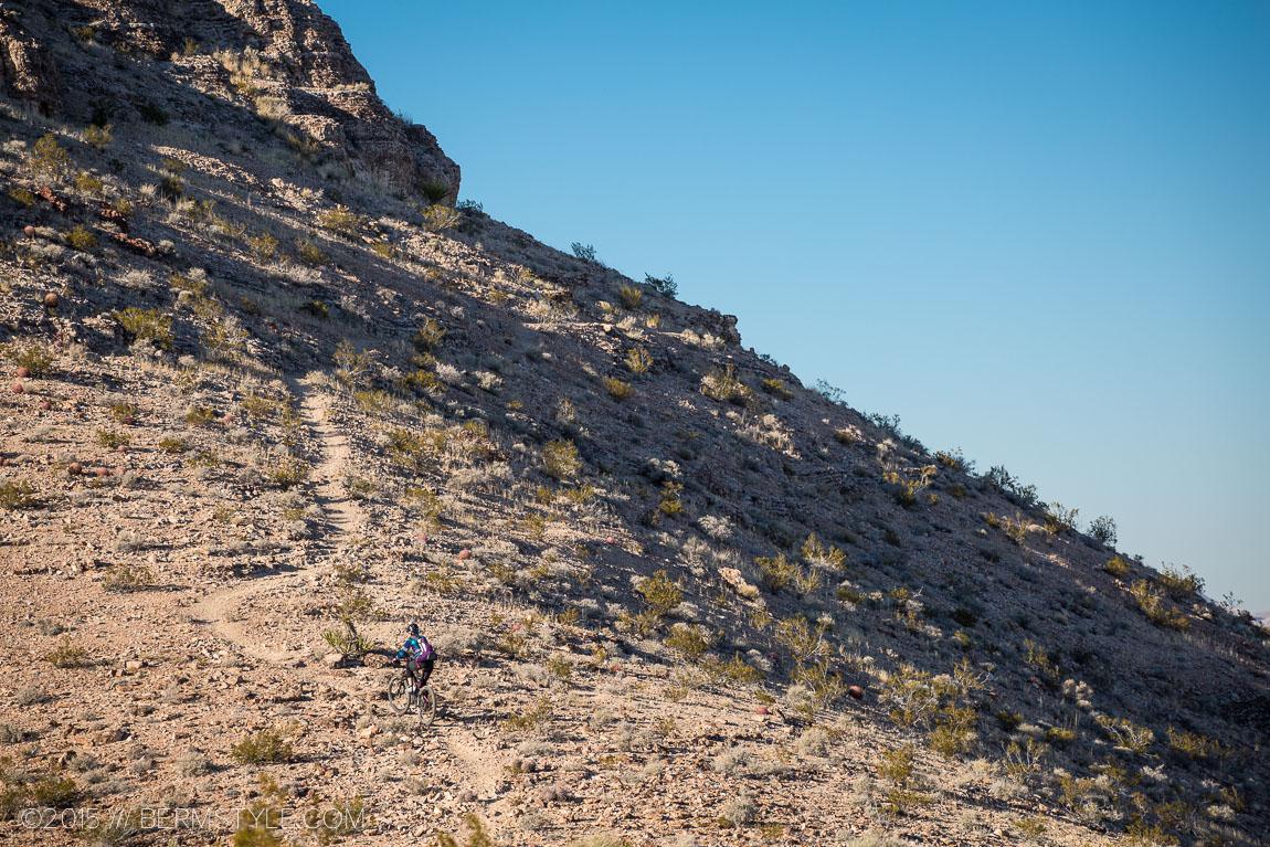 climb up the sw ridge trail, las vegas