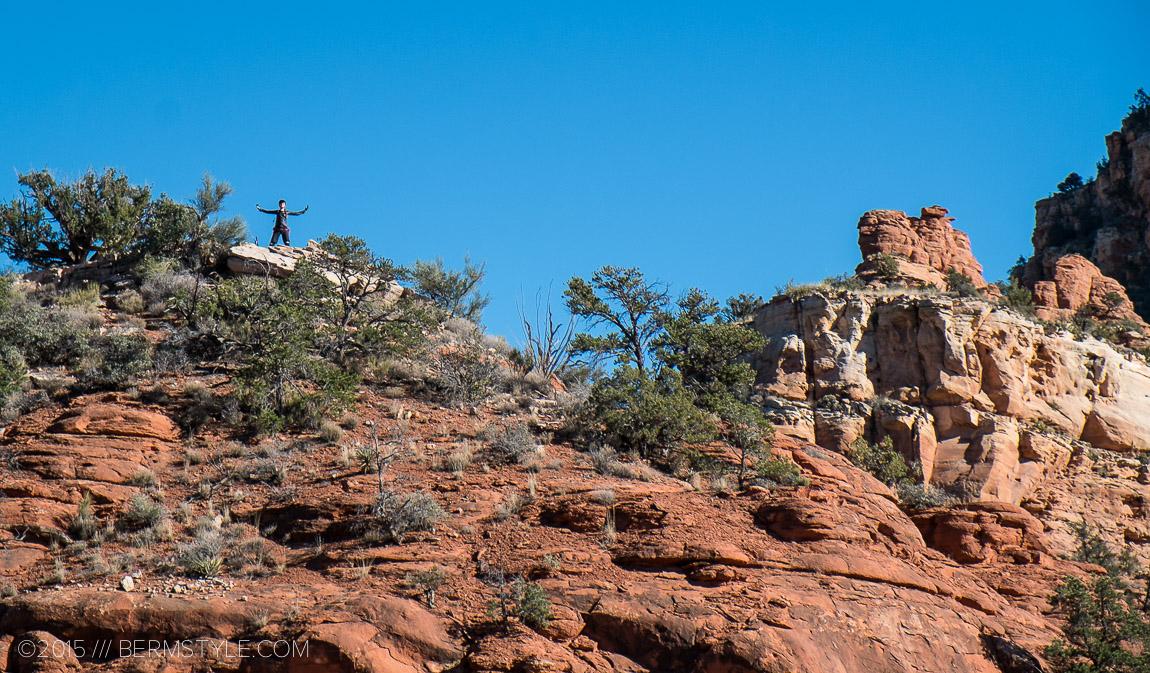 View point on the Hiline trail in Sedona, Arizona