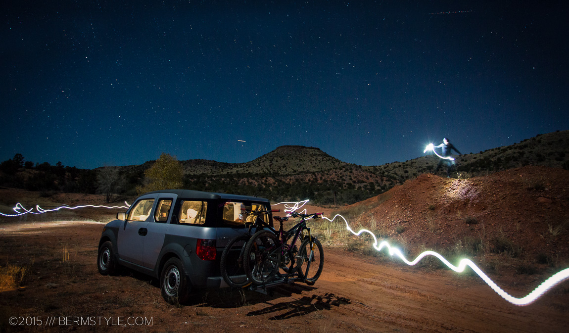 Playing with long exposures and leds just outside of Sedona, Arizona before camping for the night.