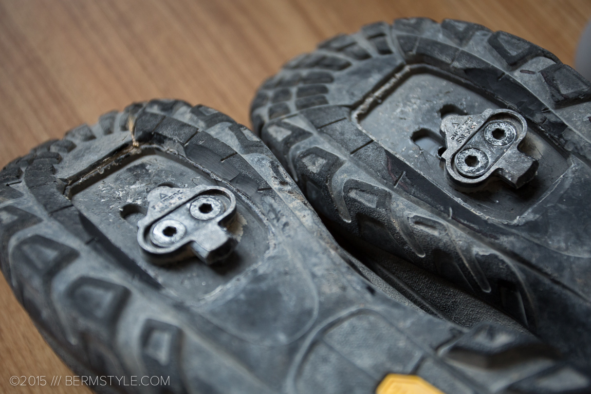 The Vibram sole offers traction when off the bike and aids when clipping in.