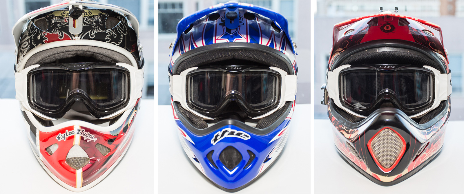 Ryder's Shore goggle mountain on TLD D2, THE, and 661 full face helmets