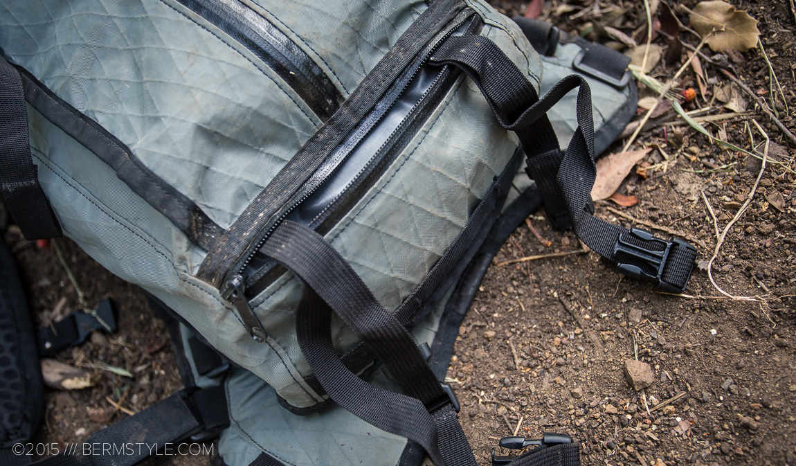 Hidden carry straps on the Acre Hauser Pack