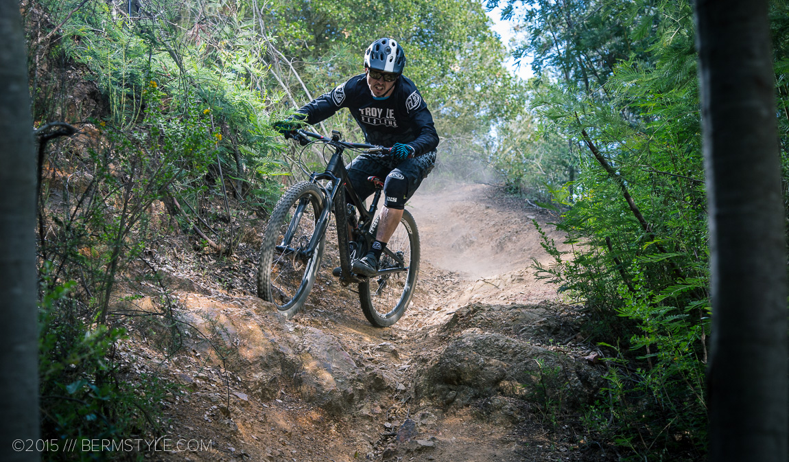 Breaking in the new TLD Enduro kit on our local test track.