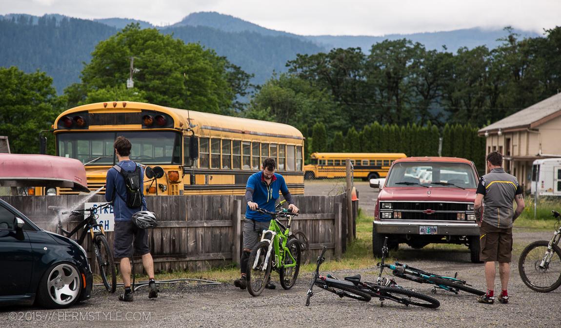 Bike wash station at Oregon Adventures