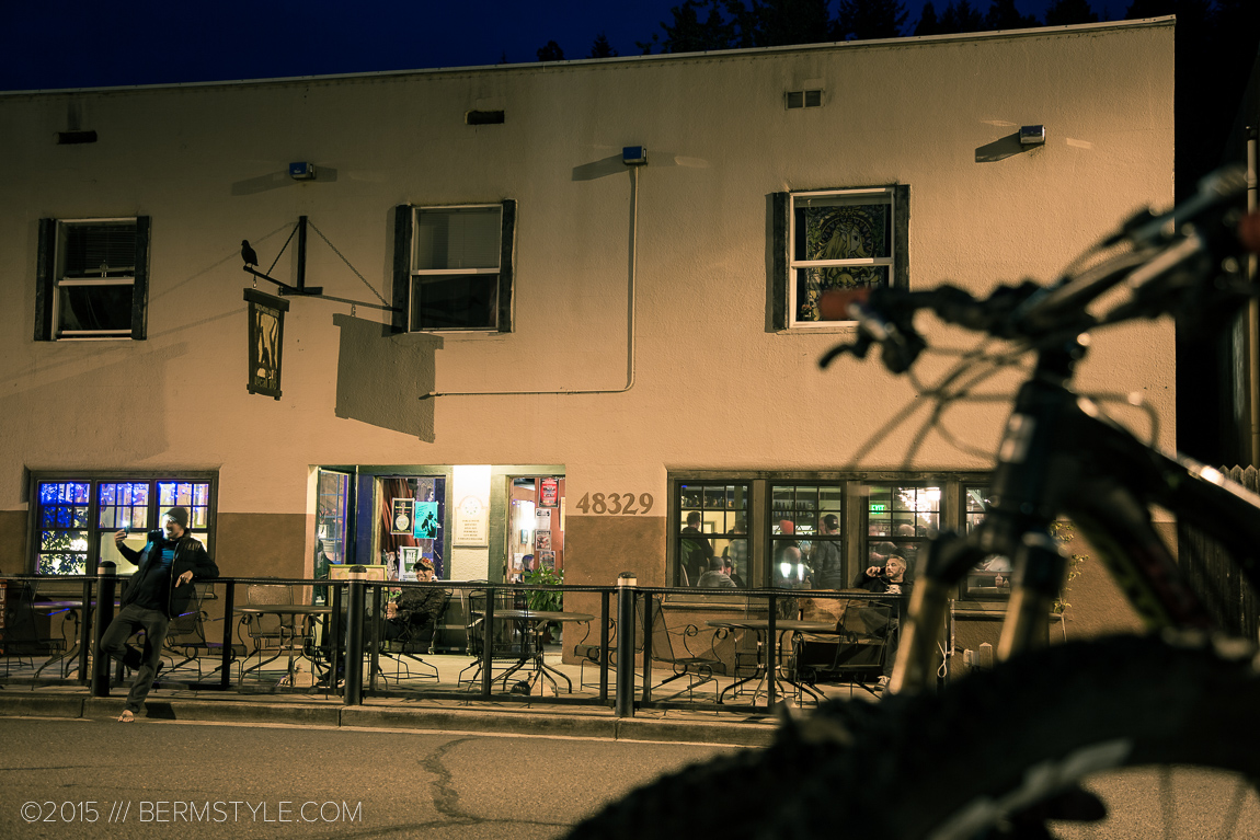 Oakridge is a small town, and gathering at the pub is a traditional post riding past time.