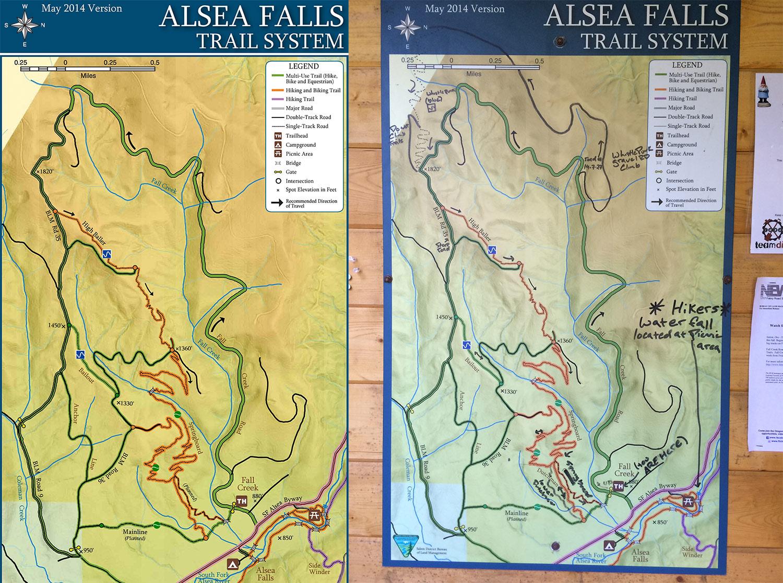 Alsea Oregon Map.Oregon Mtb Destination Alsea Falls Trail System