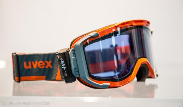 Uvex goggles featuring variotronic lenses.