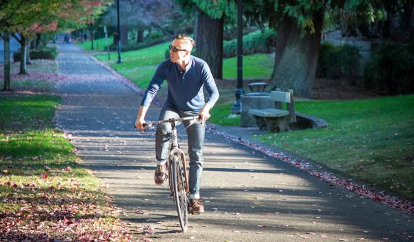 Cruising the 205 multi-use path in Portland, Oregon.
