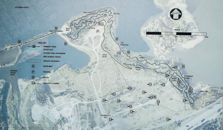 Map of the easyCLIMB Trail at Cascade Locks