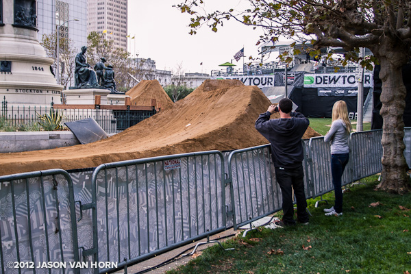 I was walking around SF the other day and came across some huge jumps…