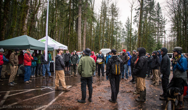 Over 70 motivated mountain bikers came out to brave wet conditions maintaining Portland's favorite trail system.