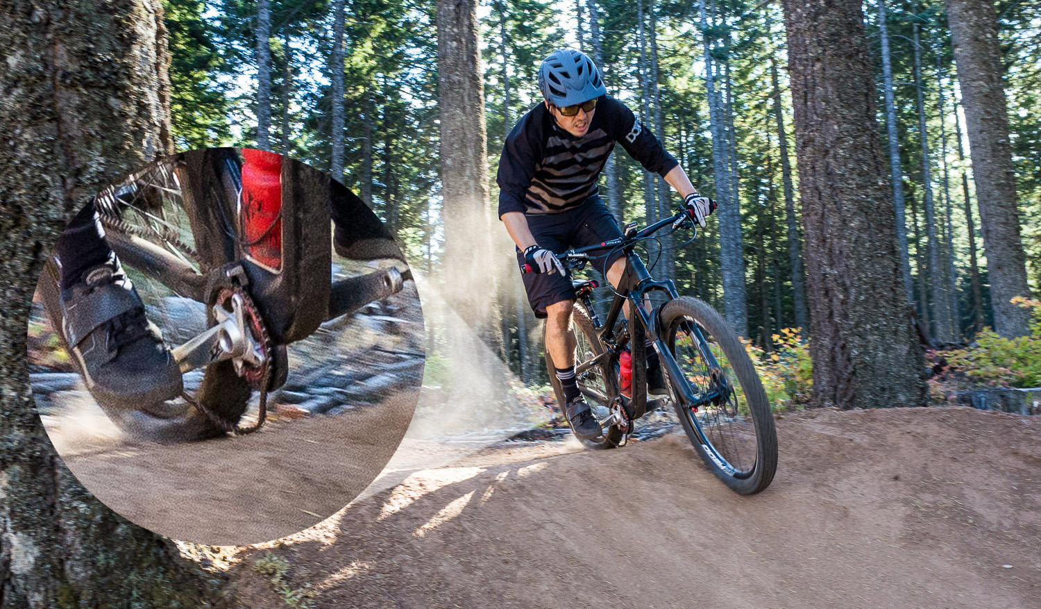 When the rear suspension is fully loaded, even with a clutch derailleur things can happen.