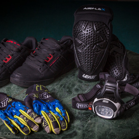 image for Fresh Gear: Zoic Prophet Shoes, Leatt Airflex Knee Pads, Gloves and Petzl UltraRush Headlamp