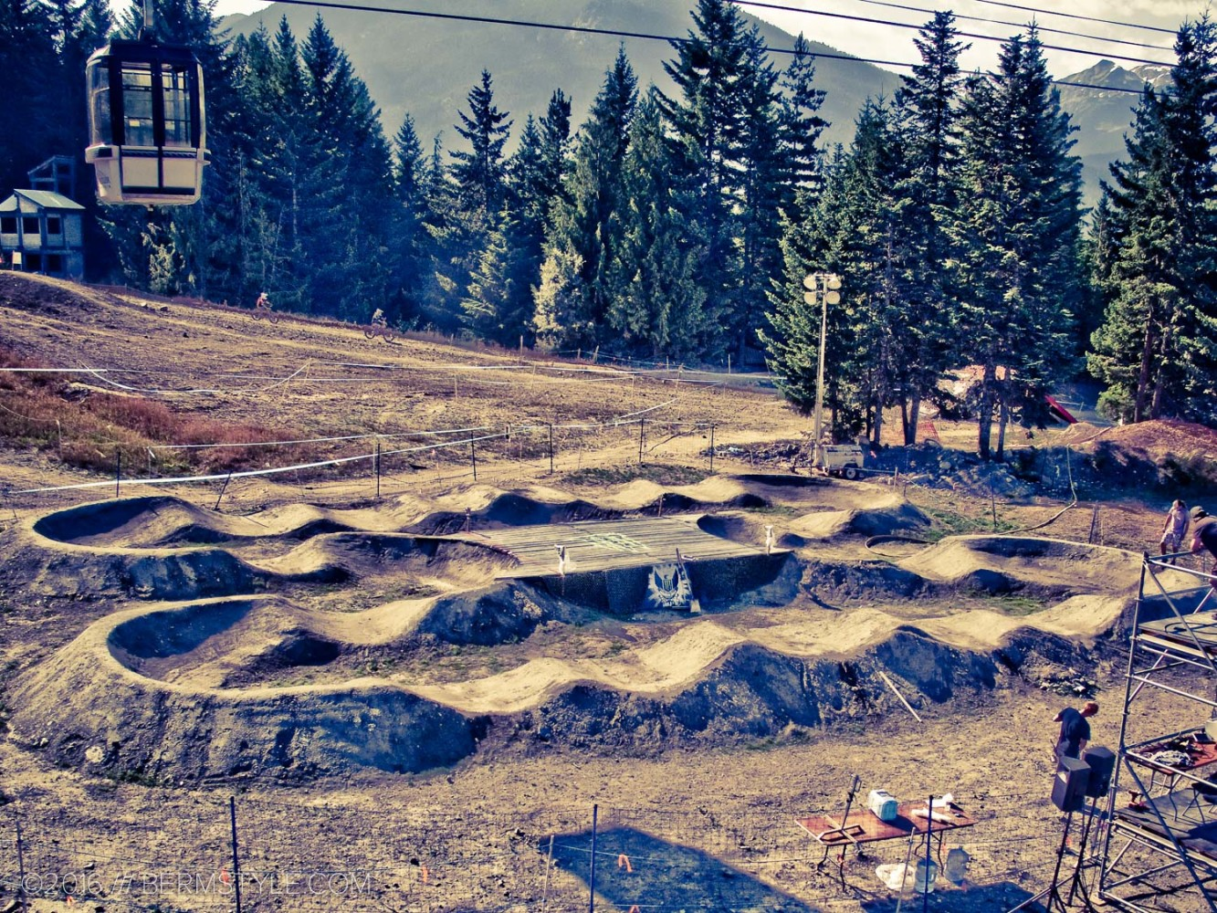 The competition track at Whistler, constructed for Crankworx 2010.