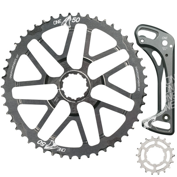 OneUp 50t + 18t Shark Sprocket and Cage for 1x11. (photo: OneUp Components)