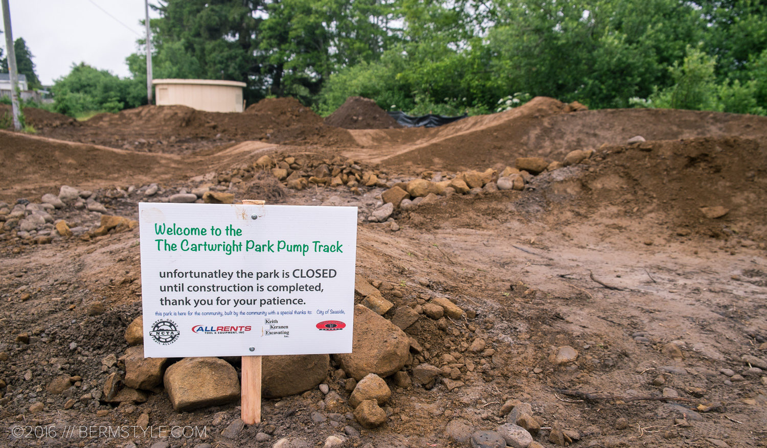 North Coast Trail Alliance: New Pump Track in Construction at Seaside, Oregon