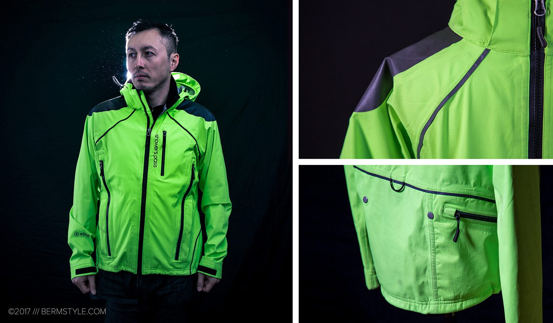 showers pass refuge neon green bike commuting jacket