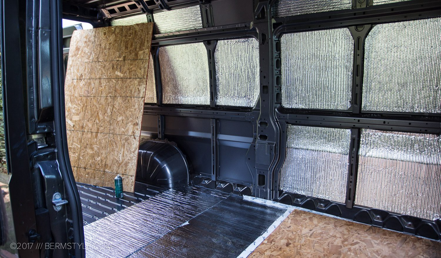 Dodge Promaster van insulation with reflectix