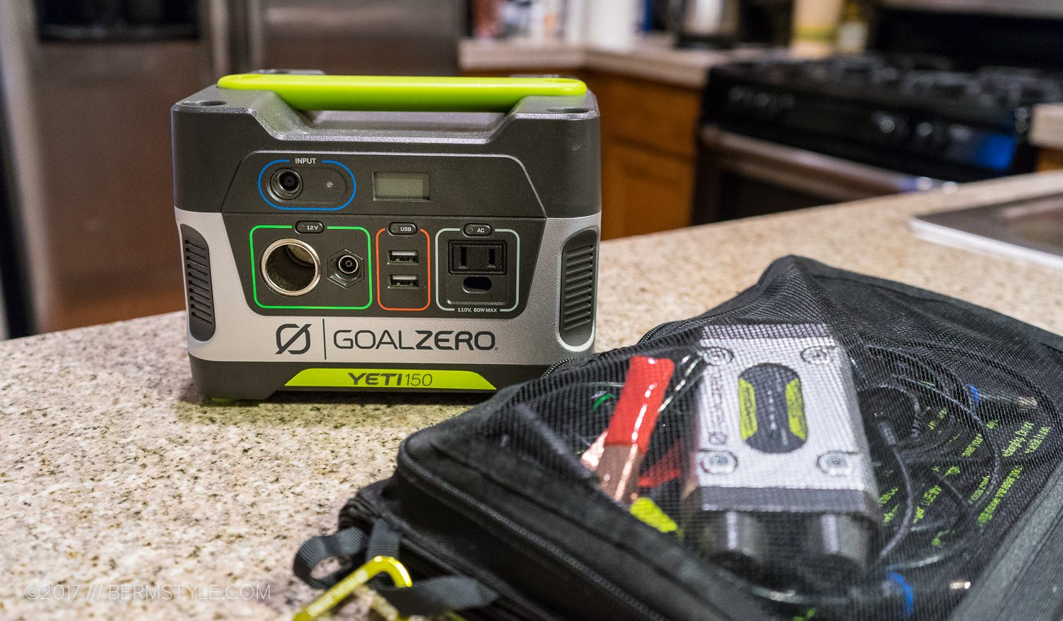 The Goal Zero Yeti 150 Portable Power Station.