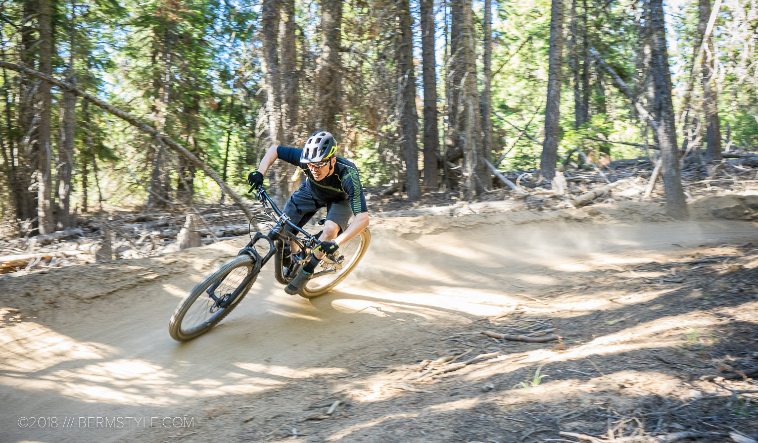 Railing a turn on the Tiddlywinks trail in Bend, Oregon