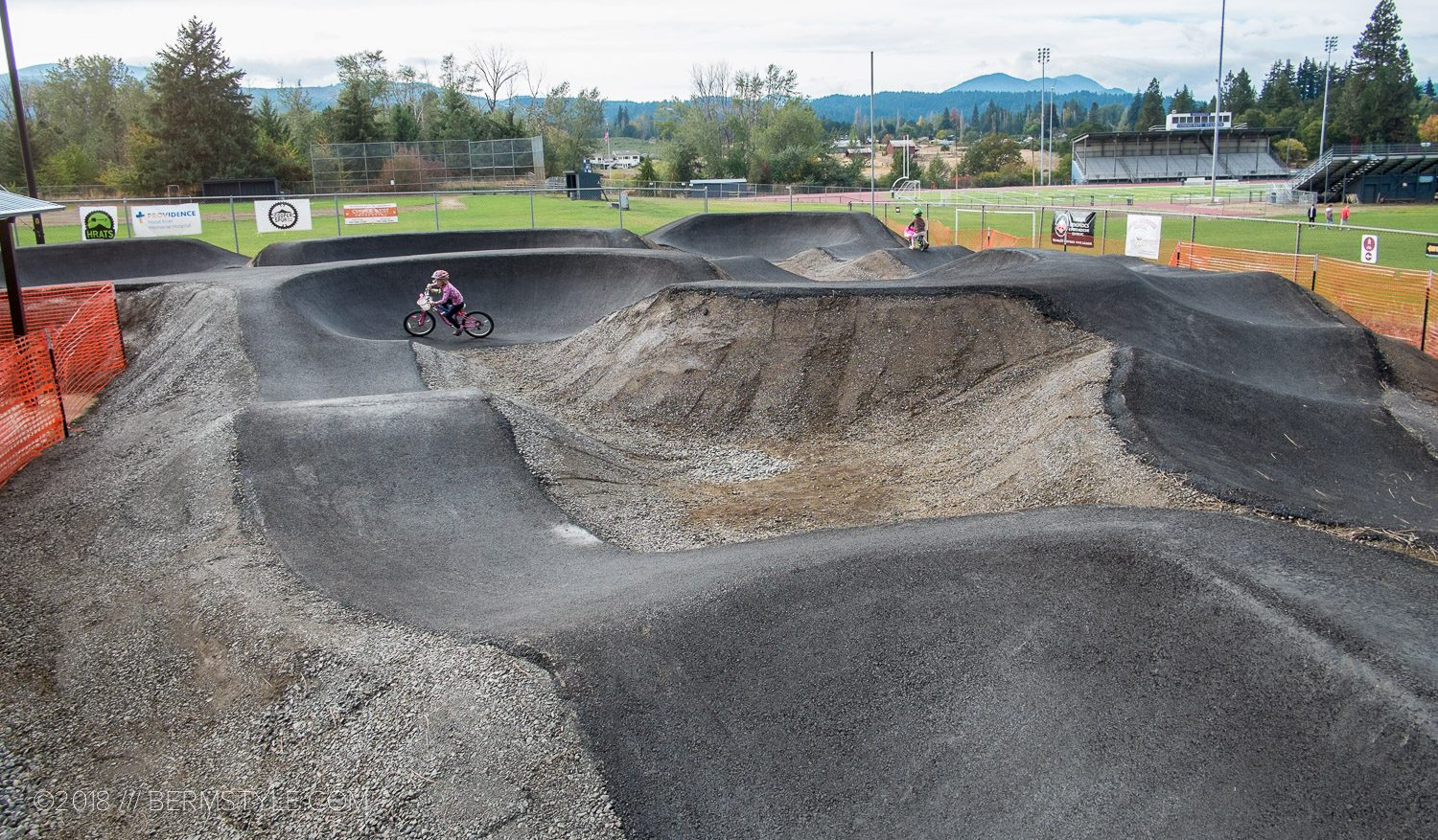First Look: the New Paved Pump Track at the Golden Eagle Park Pump Track in Hood River