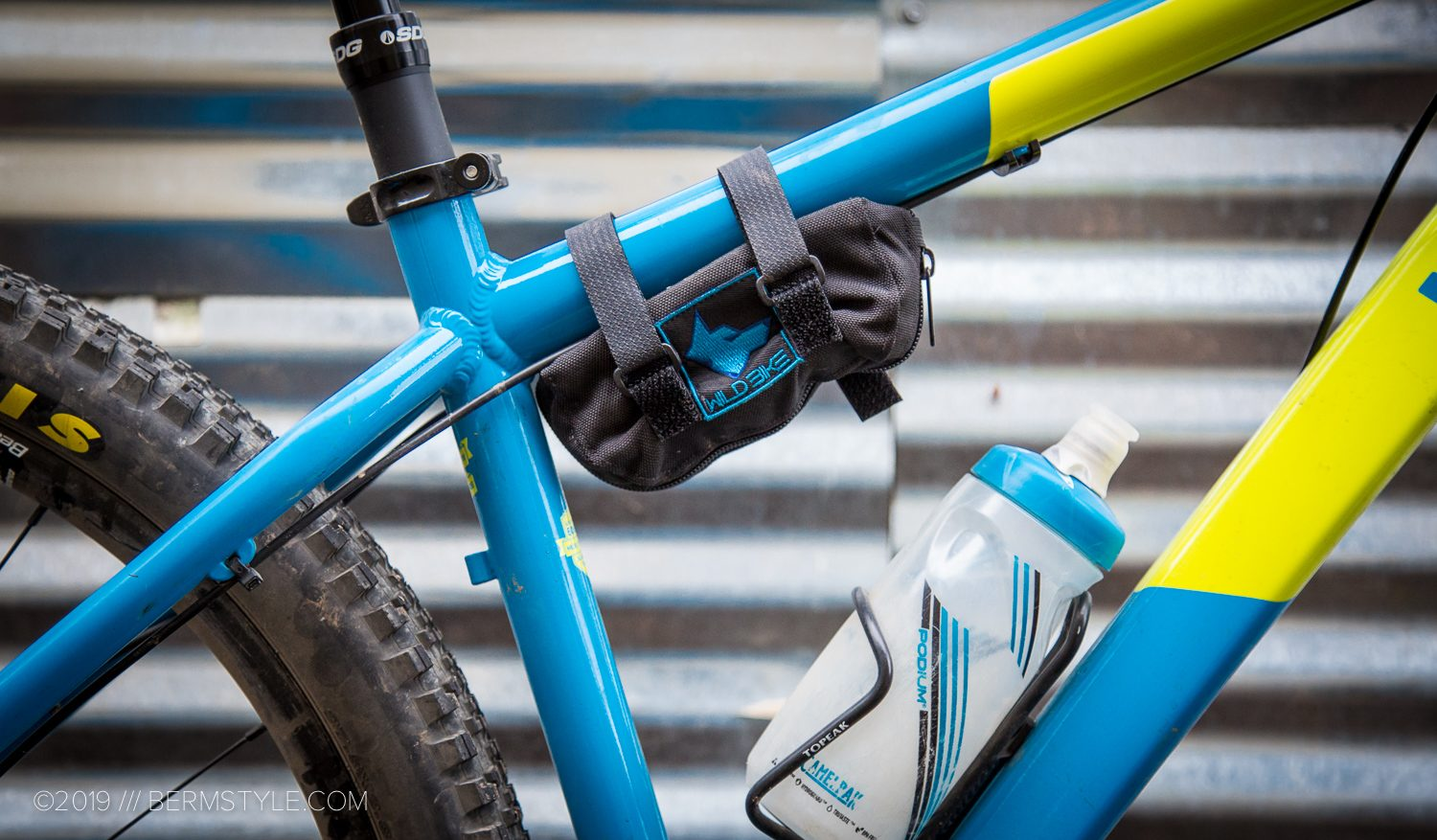 wild bike elements frame bag mounted on a Ragley Marley hardtail mountain bike